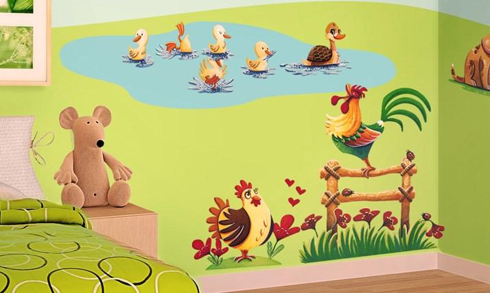 Stickers Murali Bambini - Cameretta Lallegra fattoria  LeoStickers